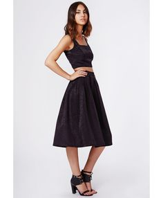 Bekka Satin Midi Skirt