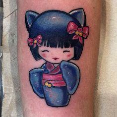#kokeshidoll #kokeshitattoo #tattoo #tatuaggi #tat #colortattoo #japanesetattoo #doll #ink #inkedgirls #instatattoo #tatuaje