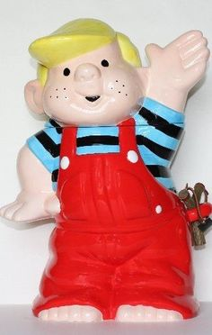 Dennis The Menace cookie jar. From Clark's Vintage Cookie Jars. Teapot Cookies, Biscuit Cookies, Cookie Dough, Cookie Cutters, Antique Cookie Jars, Ceramic Cookie Jar, Kinds Of Cookies, Cute Cookies, Grandma Cookies