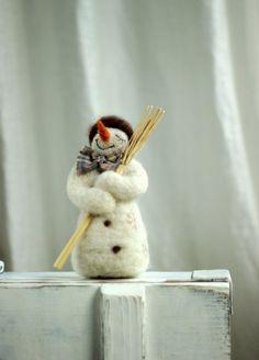 Traumhaft weißen Schneemann  WeihnachtenHome von FeltArtByMariana