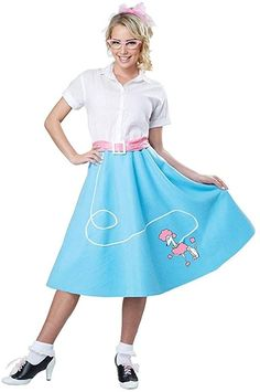 Poodle Skirts | Poodle Skirt Costumes, Patterns, History California Costumes Womens Blue 50S Poodle Skirt Adult Woman Costume $24.88 AT vintagedancer.com
