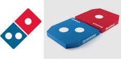 Domino's presenta el diseño de una caja de pizza que se parece a su logo