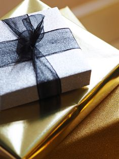 Gifts wrapped in gol