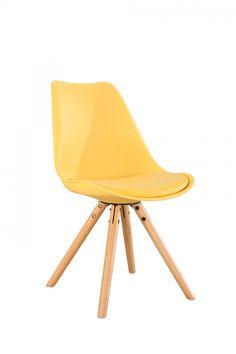 Scaun Ice Yellow living si bucatarie #homedecor #interiordesign #inspiration #interiorhome #chairs #yellow #colors Eames, Interior Design, Yellow, Chairs, Ice, Inspiration, Furniture, Home Decor, Nest Design