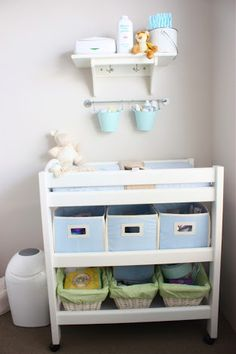 Elegant Bathroom Baby Changing Station