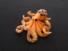 Glass Octopus Pendant by Emergent Glassworks on Etsy