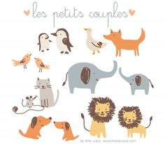 les petits couples - illustration set by little cube for The Ink Nest.