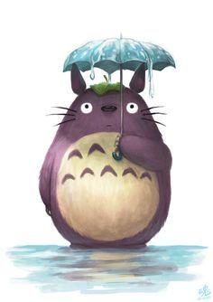 Has it stopped raining yet? by Ry-Spirit, my neighbour totoro, studio ghibli, anime movie, digital painting, inspirational art