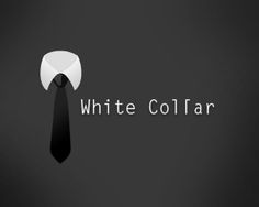 White Collar Logo design - easily used for professional, managerial or administrative Areas. Price $299.00