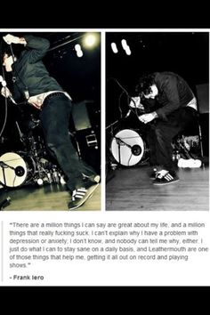 Frank Iero quote( SORRY FOR THE CURSE WORD)