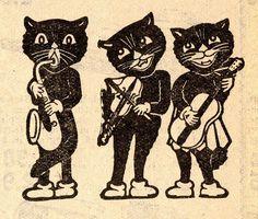 Black Cat Illustration, 1944