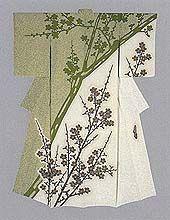 """Meisterwerk von Moriguchi Kako, Kimono-Künstler und """"lebender Nationalschatz"""" / masterpiece by Moriguchi Kako, kimono-artist and """"living national treasure"""""""