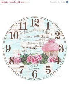 40% dalla faccia di orologio-DIY Shabby Chic di MaBellePapeterie