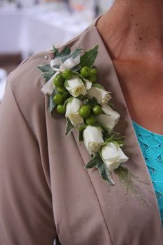 Unique Corsages and Boutonnieres | ... Snowflake & Hypericum Corsage and a stunning Merlot Peony Boutonnieres
