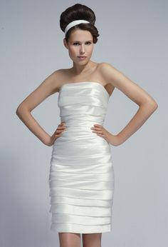 f51b5d8aa3b Short Wedding Dress - Tobi Hannah Manchettes Tea Length Wedding Dress