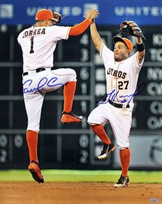 Jose Altuve & Carlos Correa Signed Autographed Houston Astros 16x20 Photo TRISTAR COA -- Awesome products selected by Anna Churchill