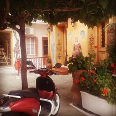 Pretty little restaurant in Skiathos, Greece.