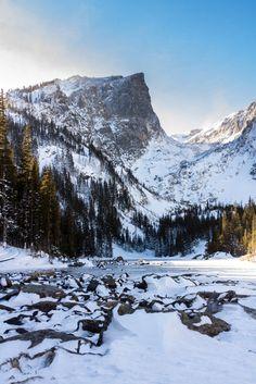 Rocky Mountain National Park, Hallett Peak over Dream Lake   Colorado (by Robert Hest)
