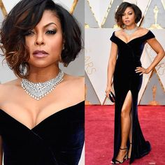 """""""YOU Magazine Official""""  Academy Awards Best Dressed! Taraji P. Henson in Alberta Ferretti and Nirva Modi jewelry.on the red Capet at the 2017 Oscars. #dianneo #youmagazineofficialbestpicks #redcarpet #tarajiphenson #albertaferretti #nirvamodi #academyawards #oscars #hollywood"""