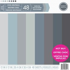 """Craft Smith """"Cool Neutrals"""" paper pad available @michaelsstores now!"""