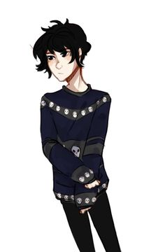 Nico in adorable skull Christmas sweater