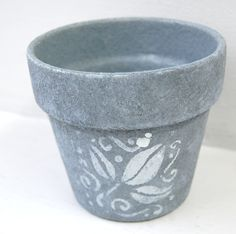 Clay Pot With Acrylic Paint 04/19/2015 | Crafts | Pinterest | Clay And Craft