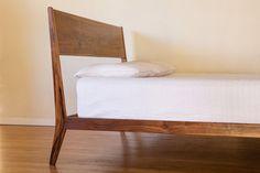Modern Lean Bed Mid Century Danish Modern by PeteDeebleFurniture