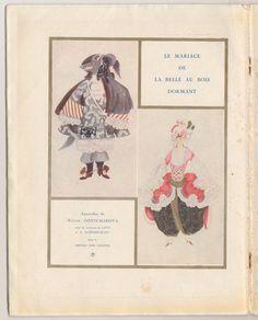 Concert program for the Ballets Russes 1922 season