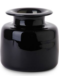 THE NEW CRAFTSMEN Chelsea Jar by Michael Ruh (Wide Medium, Black)