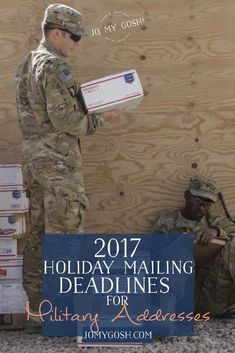 Keeping this chart for military addresses and holiday/christmas deadlines. 2017 #carepackage