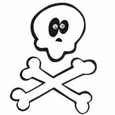 Skull and Crossbones Paper-Piecing Pattern