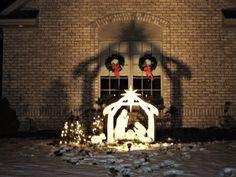Christmas Outdoor Nativity Scene - Yard Nativity Set Baby Jesus Mary Star *NEW* Yard Nativity Scene, Outdoor Nativity Sets, Diy Nativity, Nativity Scenes, Rustic Christmas, Christmas Lights, Christmas Diy, Christmas Nativity, Holiday Fun