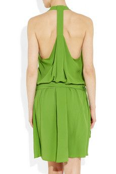 VANESSA BRUNO  Draped crepe de chine dress