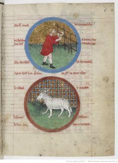 March - Psautier latin-français, 14th century - Bibliothèque nationale de France, Département des manuscrits, NAF 4600