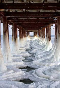 Ice Pier, Black Sea, Ukraine.