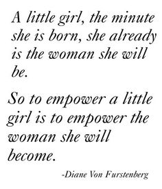 Diane Von Furstenberg's advice for raising girls