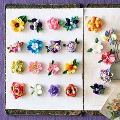 小さくても本格派。愛らしい「一輪咲き」で、つまみ細工デビュー。|小さな一輪に個性がキラリ つまみ細工の花図鑑の会