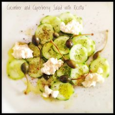 Cucumber Salad with Capers and Ricotta