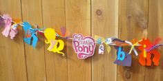 My Little Pony Birthday Party Banner -- Happy Birthday -- MLP FIM Friendship is Magic -- Equestria Girls My Little Pony Birthday Party, Happy Birthday Parties, 3rd Birthday, Birthday Ideas, Cumple My Little Pony, My Lil Pony, Friend Crafts, Little Poney, Party Themes