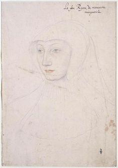 Marguerite d'Orléans,queen of Navarre, by Clouet, 1526 Renaissance Portraits, Renaissance Artists, Renaissance Clothing, Victoria And Albert Museum, Marguerite De Navarre, Jean Fouquet, Statues, Hans Holbein, Portrait Sketches