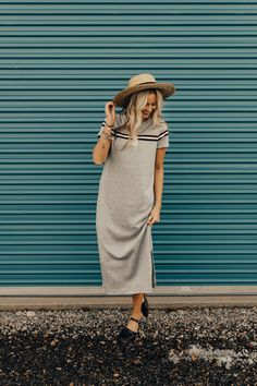 Heather Grey 90's Style Dress | ROOLEE #ROOLEEfave