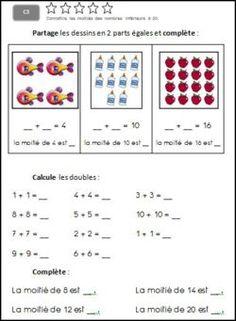 C3: Connaitre les moitiés des nombres inférieurs à 20