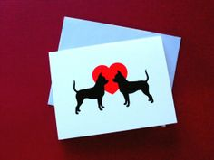 Chihuahua Valentine Cards by doggydesign on Etsy