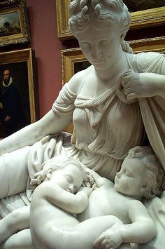 Greek goddess Leto with her twins Apollo and Artemis. This is the cutest thing I have ever seen! Greek mythology.
