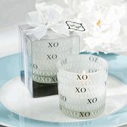 Fill the day with hugs and kisses at your wedding or anniversary with a heartwarming accent. Our XO Candle Holder favors are an especially romantic gesture for the happy bride and groom. The round white. Candle Wedding Favors, Candle Holders Wedding, Candle Favors, Wedding Party Favors, Wedding Reception Decorations, Wedding Ideas, Votive Holder, Wedding Planning, Wedding Inspiration