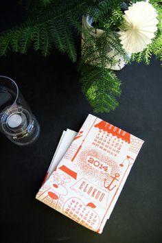 Kauniste Calendar in Hunajaista blog. Calendar 2014, Nice Things, Tea Towels, Textiles, Homes, Interior, Products, Dish Towels, Houses