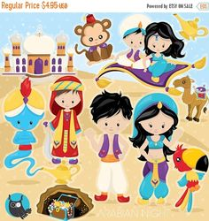 80% OFF SALE Aladdin clipart commercial use by Prettygrafikdesign