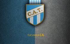 Download wallpapers Club Atletico Tucuman, 4k, logo, San Miguel, Argentina, leather texture, football, Argentinian football club, Tucuman FC, emblem, Superliga, Argentina Football Championships, First Division