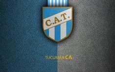 Descargar fondos de pantalla Club Atlético Tucumán, 4k, logotipo, San Miguel, Argentina, textura de cuero, el fútbol, el Argentino de clubes de fútbol, FC de Tucumán, el emblema, la Superliga, Argentina Campeonatos de Fútbol, Primera División