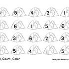 Students will roll a die, count the number of dots, and color a tent with the corresponding number.   Great activity for quiet morning work!  Excel...